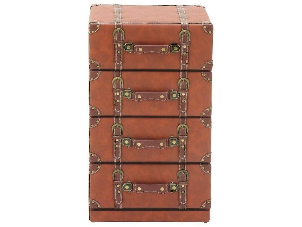 UMA Enterprises, Inc. Accent FurnitureFaux Leather 4 Drawer Chest