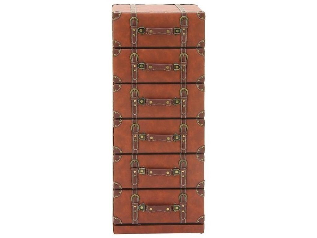 UMA Enterprises, Inc. Accent FurnitureFaux Leather 6 Drawer Chest