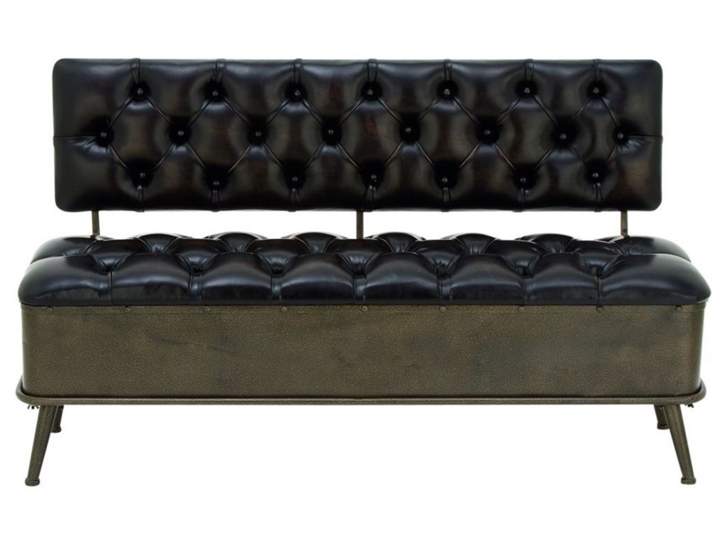 UMA Enterprises, Inc. Accent FurnitureMetal/Faux Leather Storage Bench