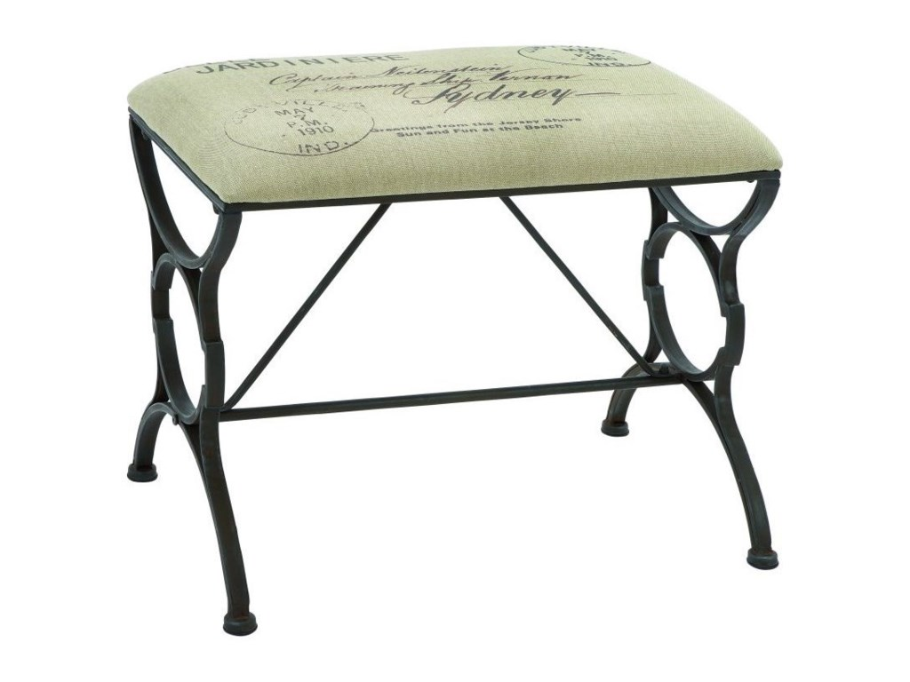 UMA Enterprises, Inc. Accent FurnitureMetal Fabric Stool