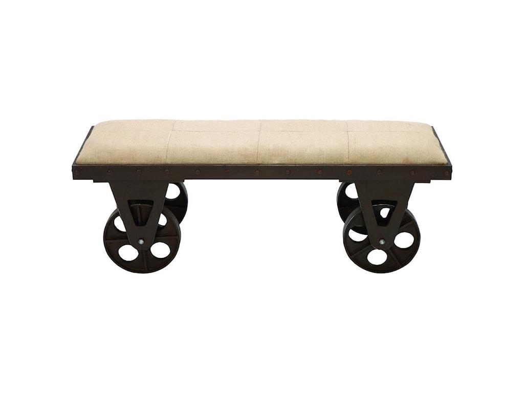 UMA Enterprises, Inc. Accent FurnitureMetal/Fabric Bench