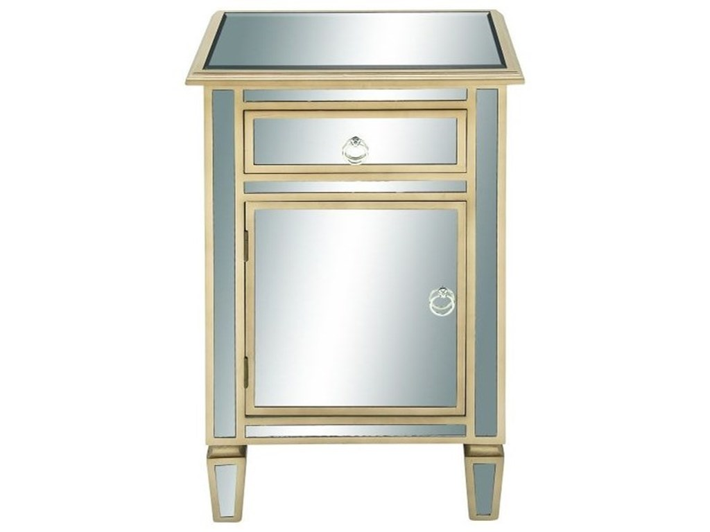UMA Enterprises, Inc. Accent FurnitureWood/Mirror Side Cabinet