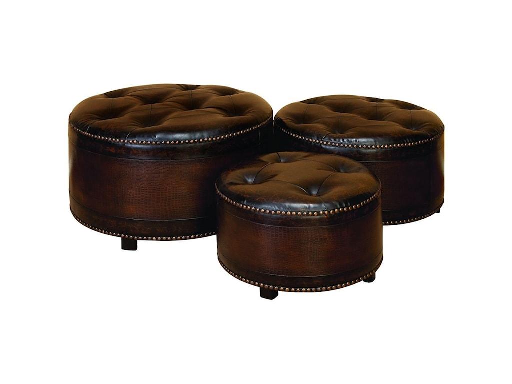 UMA Enterprises, Inc. Accent FurnitureFaux Leather Ottomans, Set of 3
