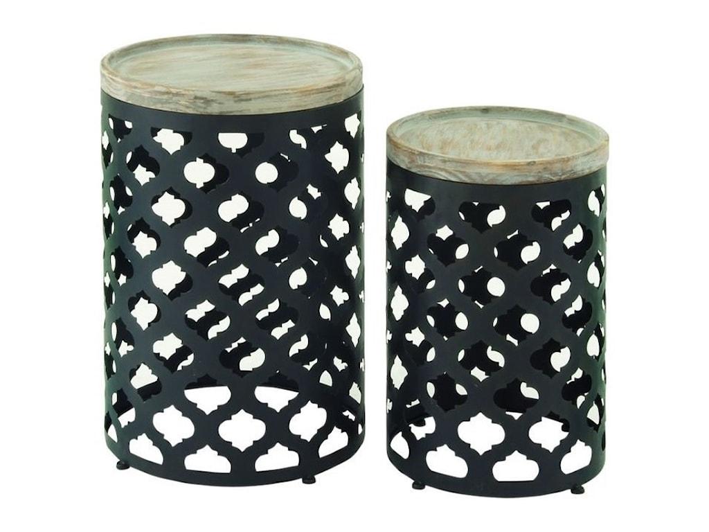 UMA Enterprises, Inc. Accent FurnitureMetal/Wood Accent Table, Set of 2
