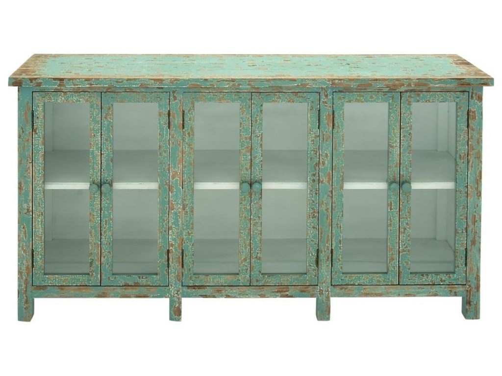 UMA Enterprises, Inc. Accent FurnitureWood/Glass Console Cabinet