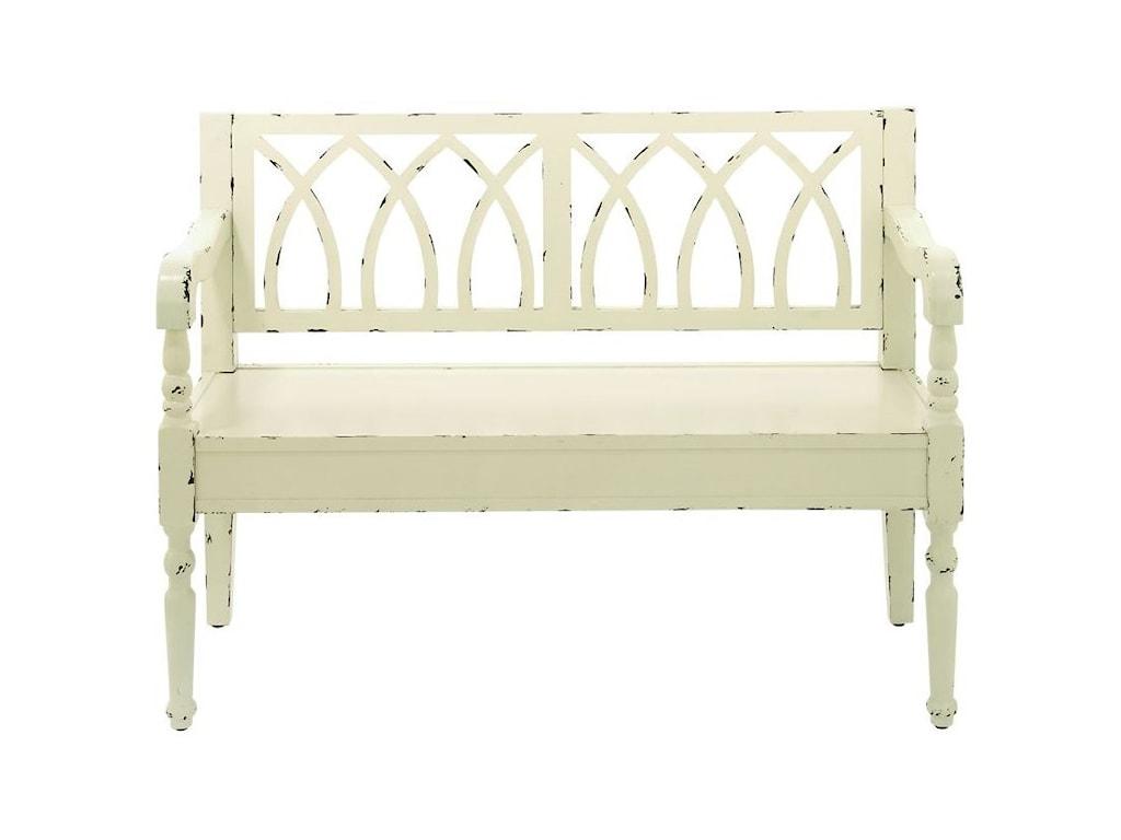 UMA Enterprises, Inc. Accent FurnitureWood White Bench