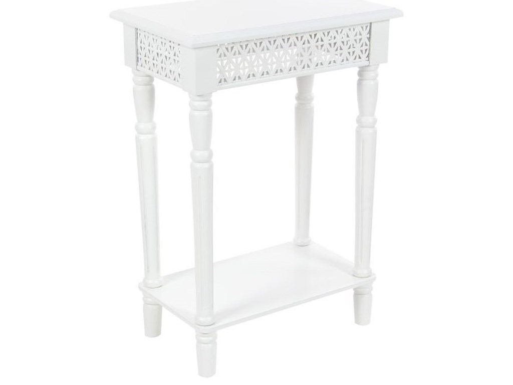 UMA Enterprises, Inc. Accent FurnitureWood White Side Table