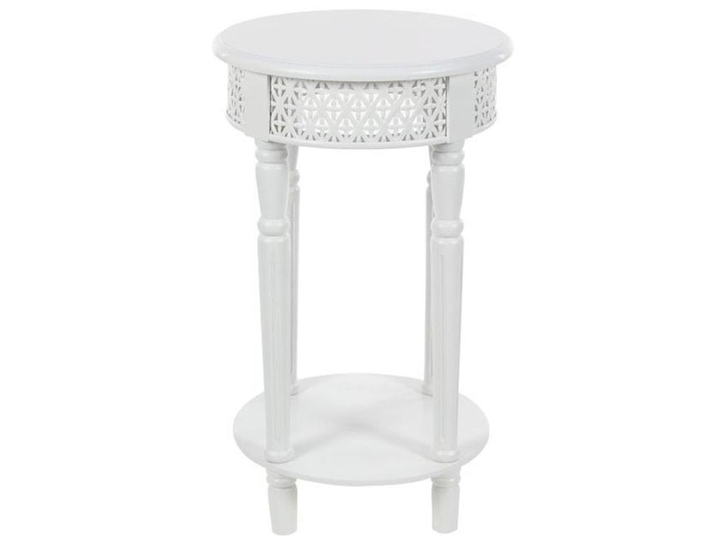 UMA Enterprises, Inc. Accent FurnitureWood White Side Table