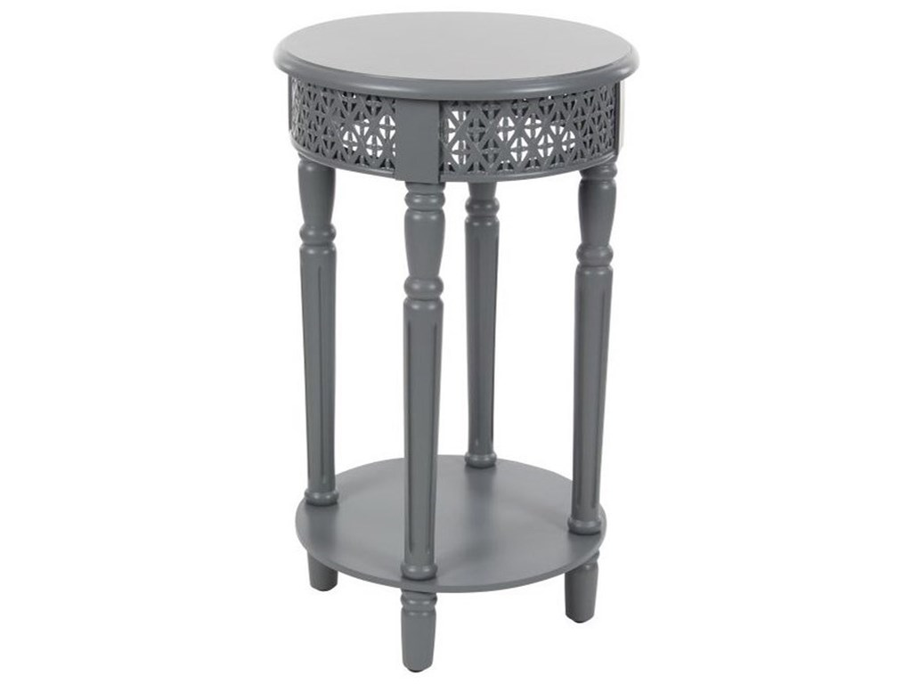 UMA Enterprises, Inc. Accent FurnitureWood Grey Side Table