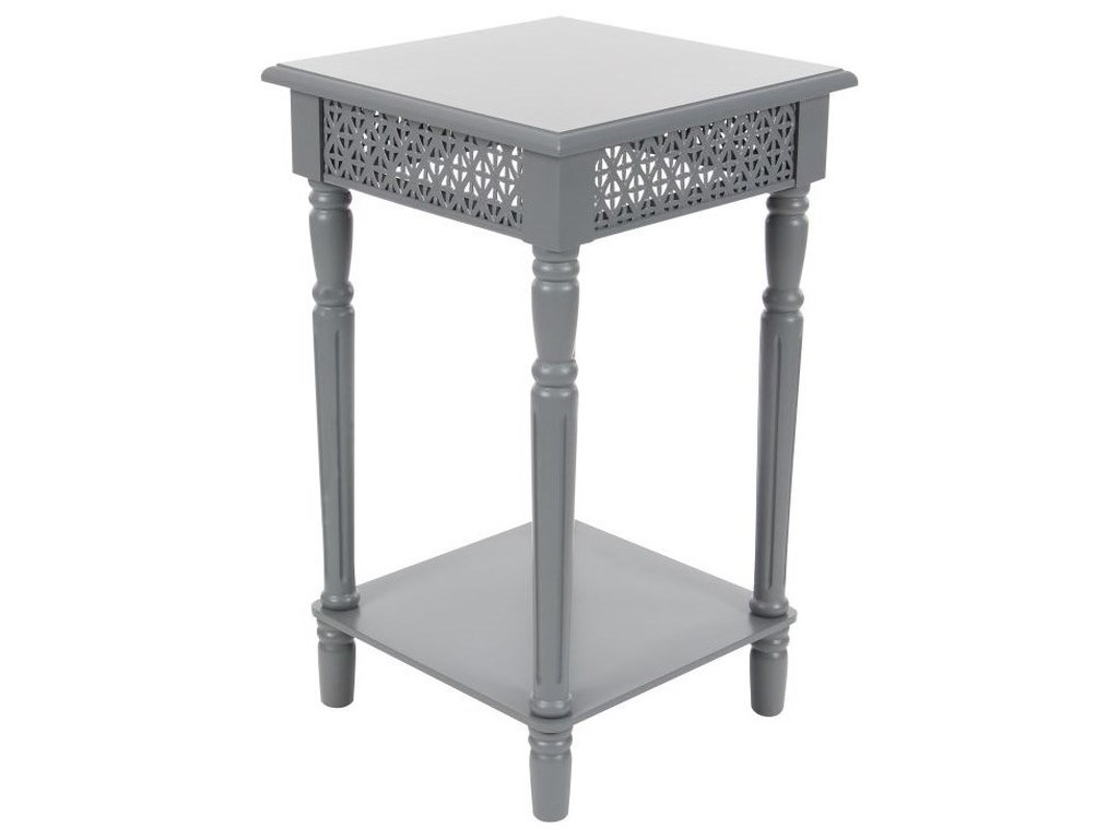 UMA Enterprises, Inc. Accent FurnitureWood Grey Side Table