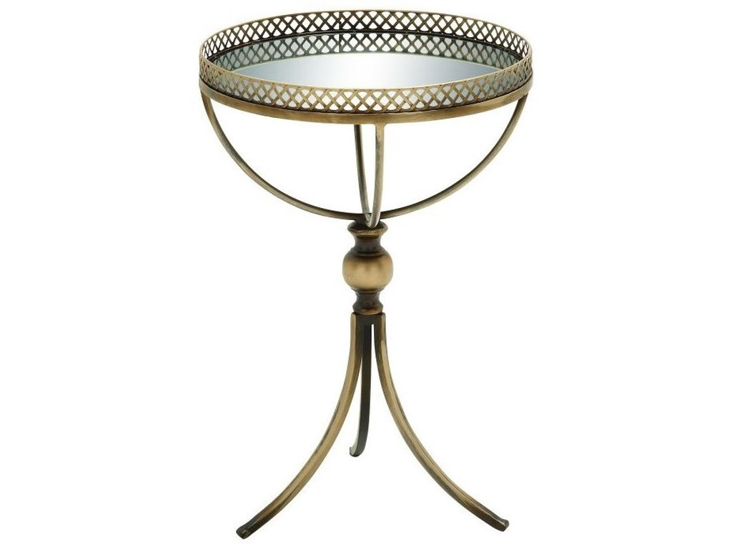 UMA Enterprises, Inc. Accent FurnitureMetal/Mirror Tray Table