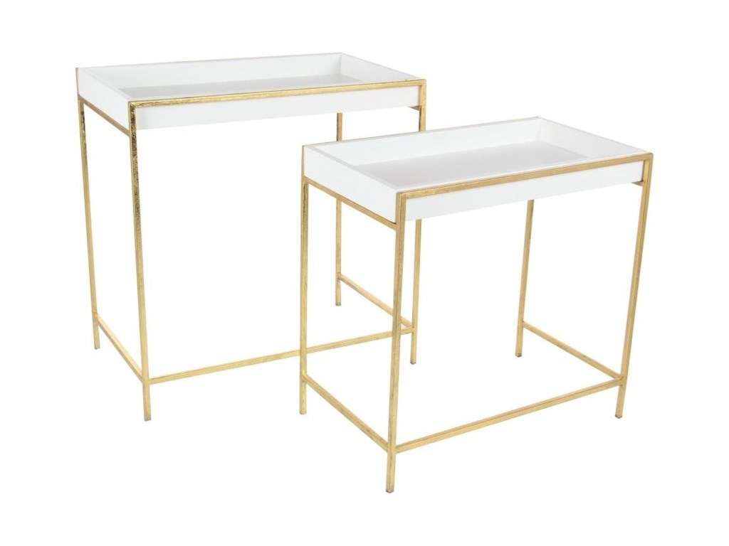 UMA Enterprises, Inc. Accent FurnitureMetal Console Tables, Set of 2