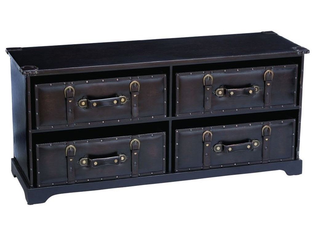 UMA Enterprises, Inc. Accent FurnitureWood/Faux Leather Chest