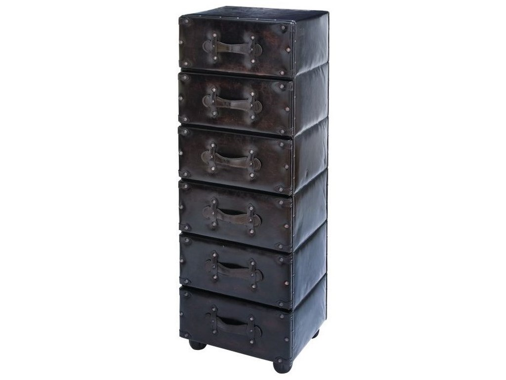 UMA Enterprises, Inc. Accent FurnitureWood/Faux Leather 6 Drawer Chest