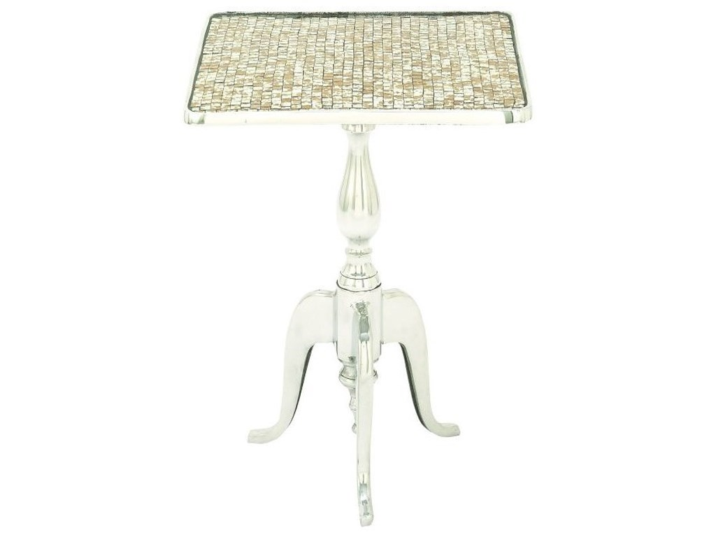 UMA Enterprises, Inc. Accent FurnitureAluminum Mosaic Square Accent Table