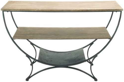 Uma Enterprises Inc Accent Furniture Metal Wood Console Table