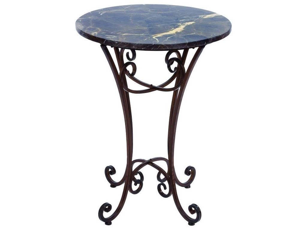 UMA Enterprises, Inc. Accent FurnitureMetal Marble Accent Table