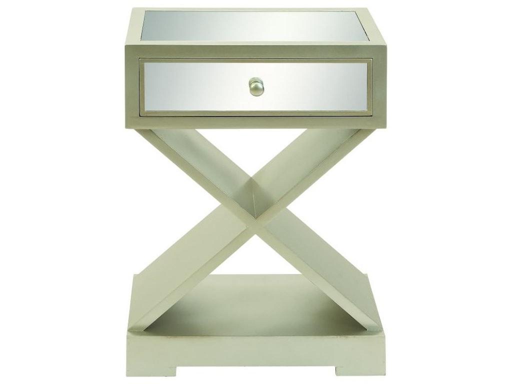 UMA Enterprises, Inc. Accent FurnitureWood Mirror Side Table