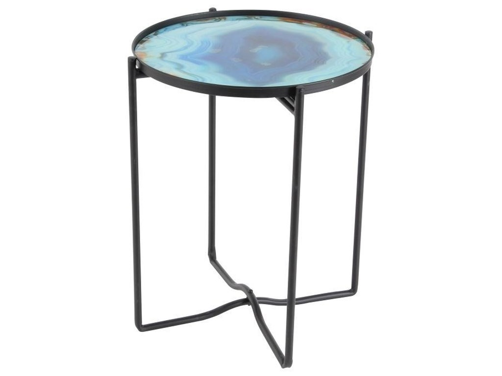 UMA Enterprises, Inc. Accent FurnitureMetal/Glass Accent Table
