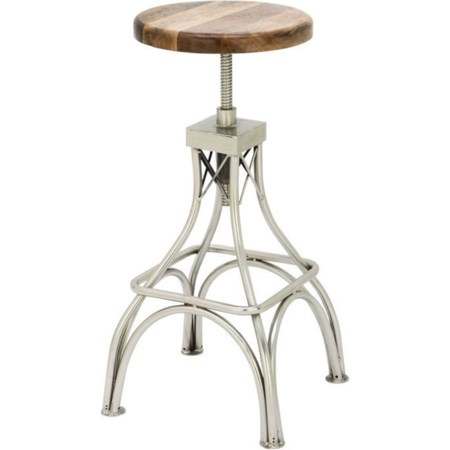 Wood/Metal Stool