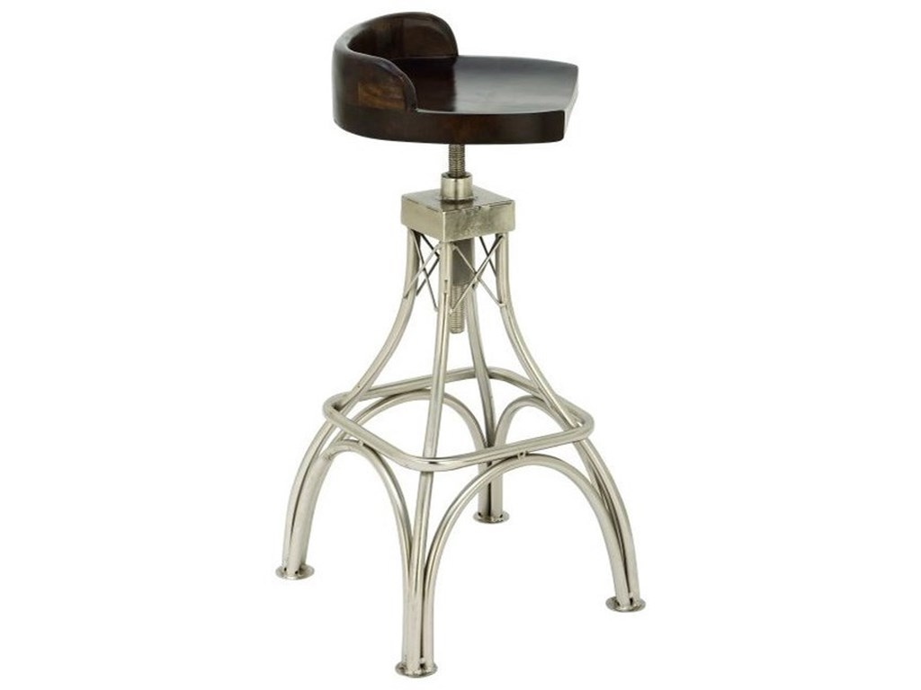 UMA Enterprises, Inc. Accent FurnitureMetal Wood Stool