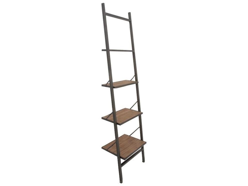 UMA Enterprises, Inc. Accent FurnitureMetal/Wood Leaning Shelf