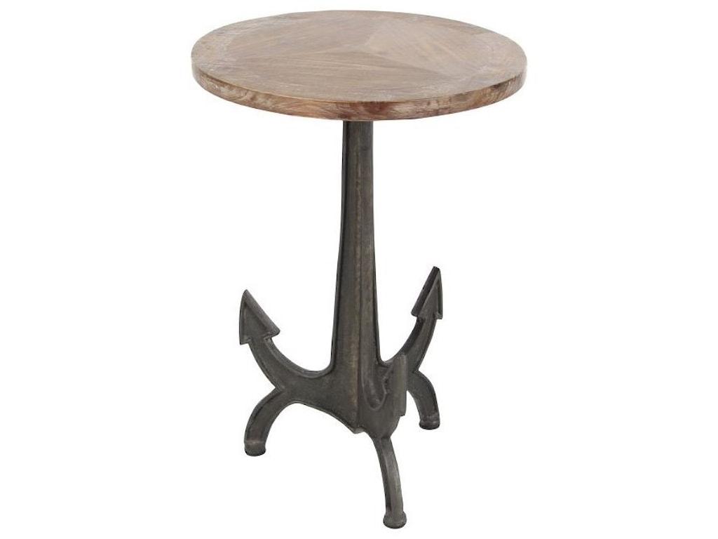 UMA Enterprises, Inc. Accent FurnitureMetal/Wood Anchor Table