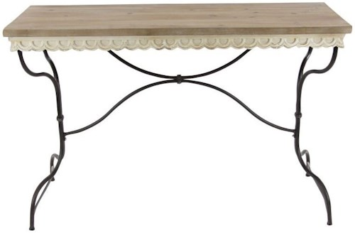 Uma Enterprises Inc Accent Furniture Metal Wood Consol Table