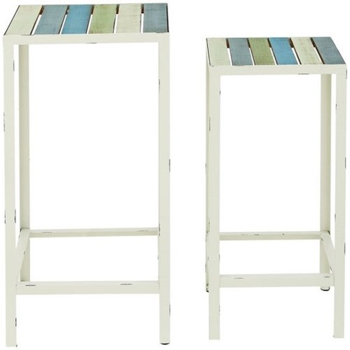 UMA Enterprises, Inc. Accent Furniture Metal/Wood Accent Tables, Set of 2