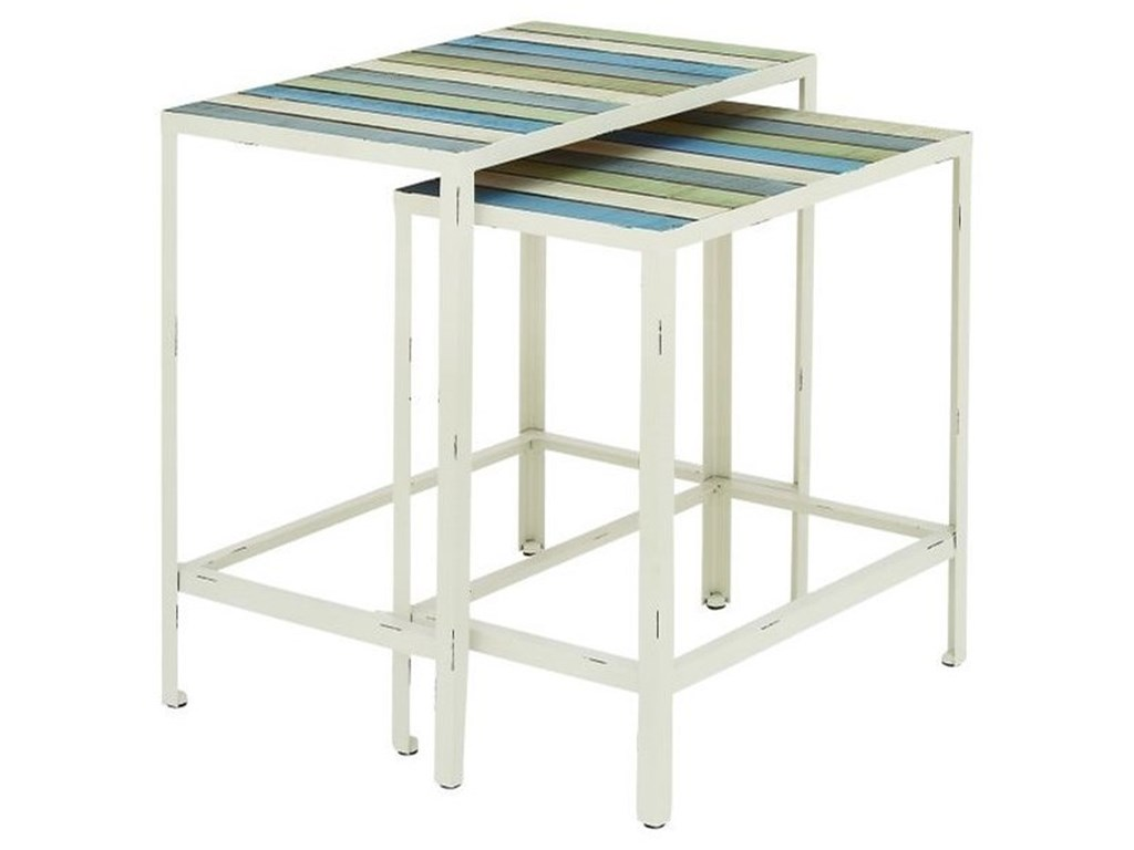 UMA Enterprises, Inc. Accent FurnitureMetal/Wood Accent Tables, Set of 2