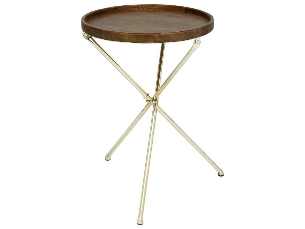 UMA Enterprises, Inc. Accent FurnitureMetal/Wood Tray Table
