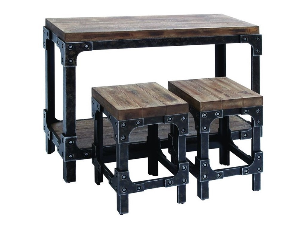 UMA Enterprises, Inc. Accent FurnitureWood Table & Stool Set