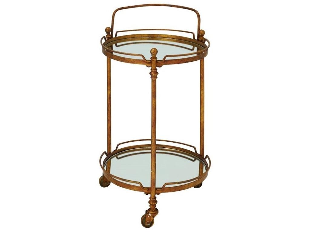 UMA Enterprises, Inc. Accent FurnitureMetal Mirror Bar Cart