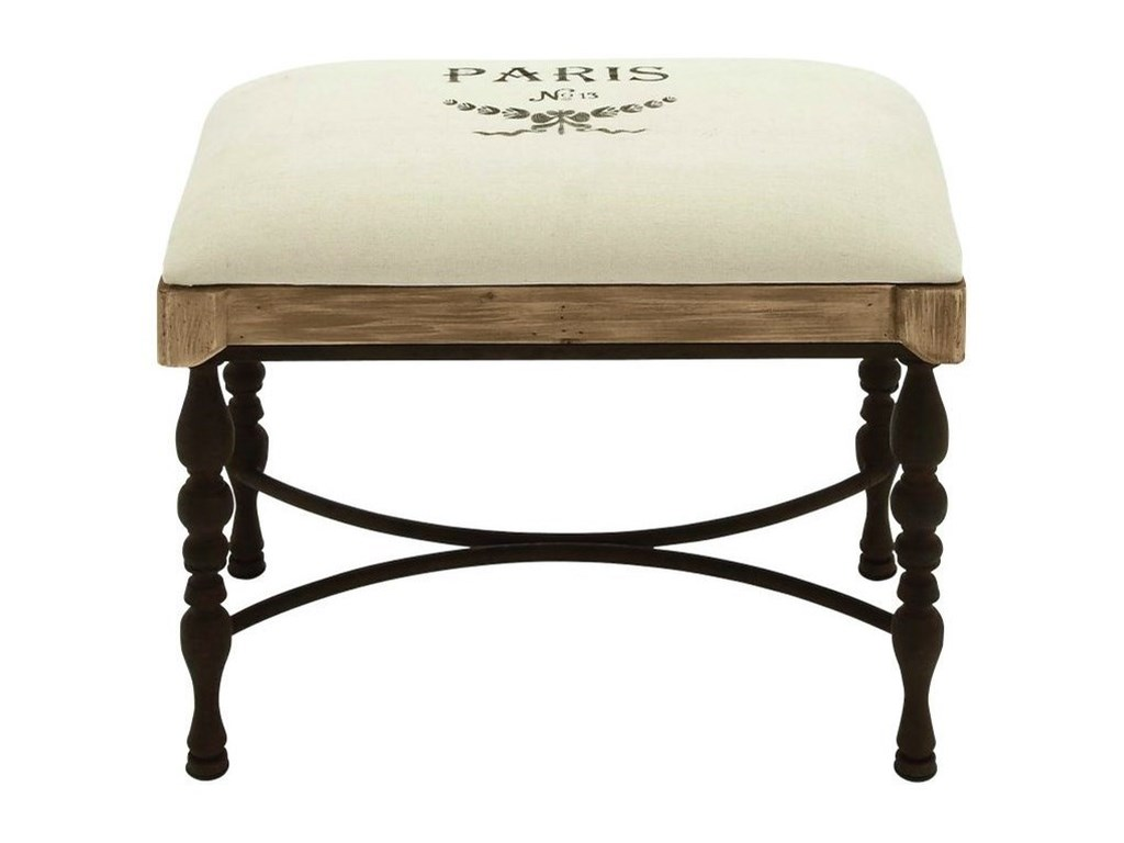 UMA Enterprises, Inc. Accent FurnitureMetal/Wood Fabric Stool