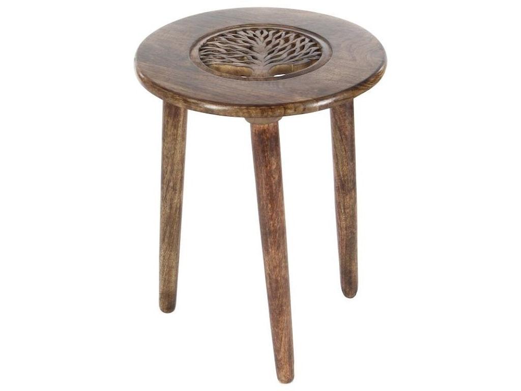 UMA Enterprises, Inc. Accent FurnitureWood Tripod Round Table