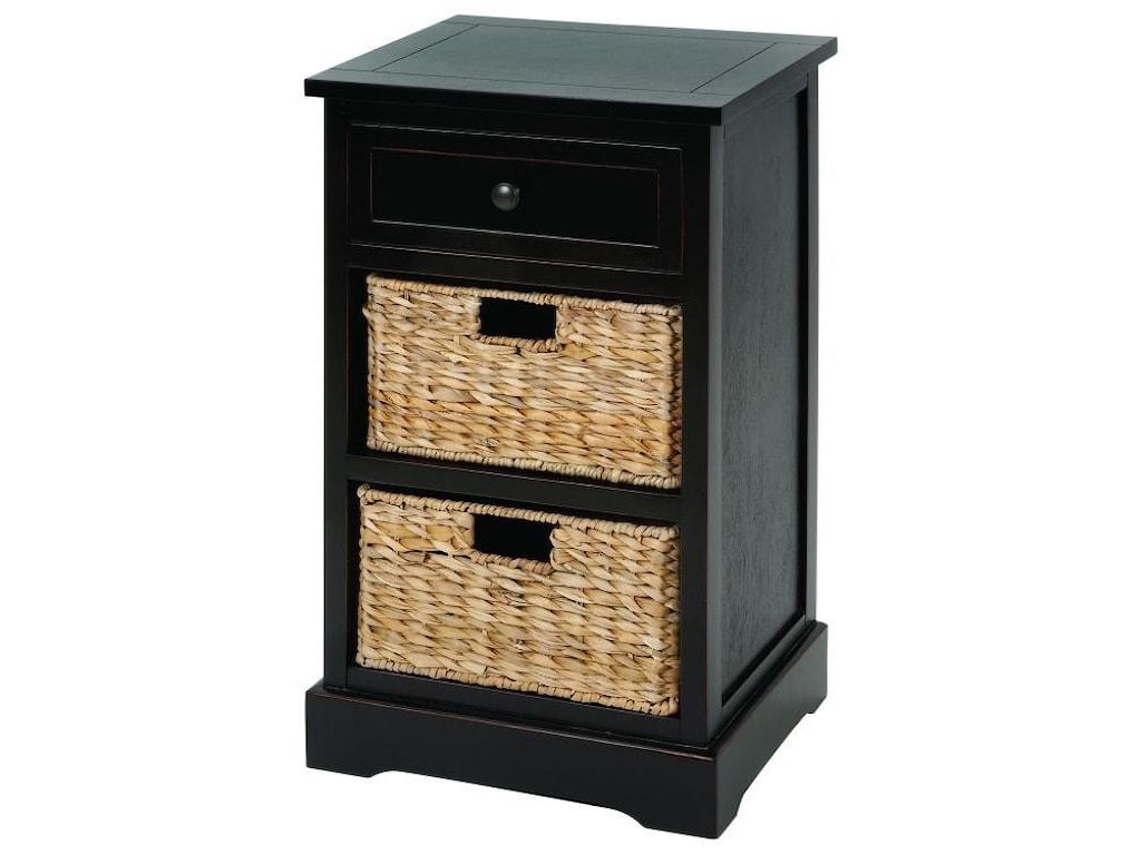 UMA Enterprises, Inc. Accent FurnitureWood Wicker Basket Side Table