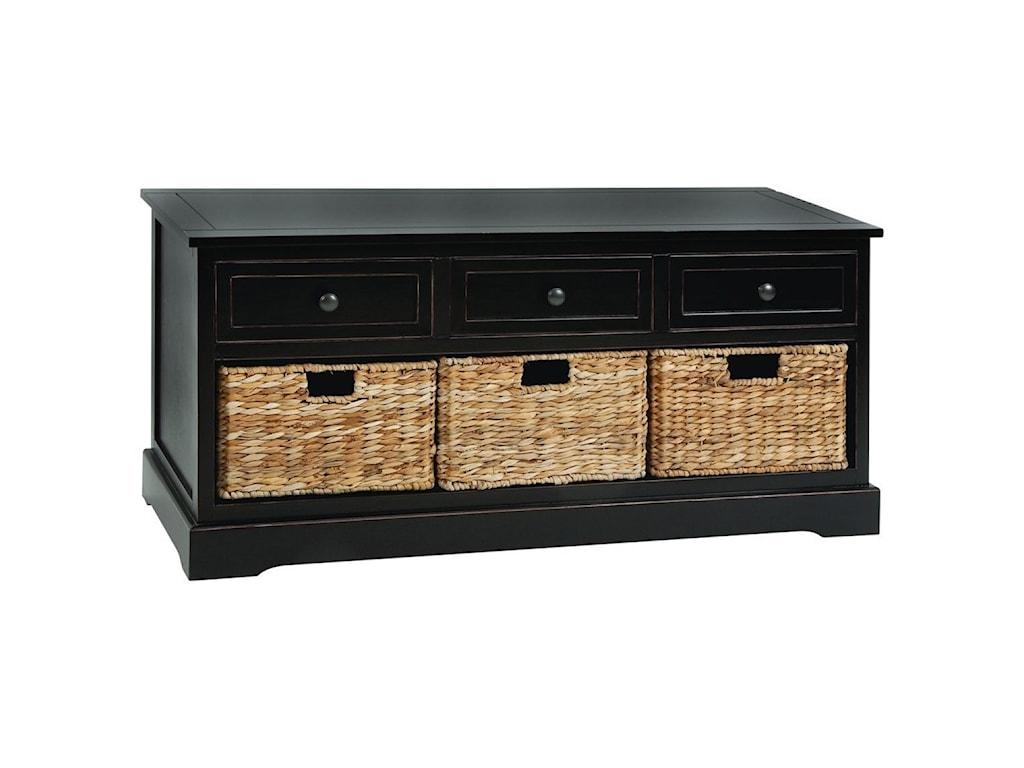 UMA Enterprises, Inc. Accent FurnitureWood/Wicker Basket Chest