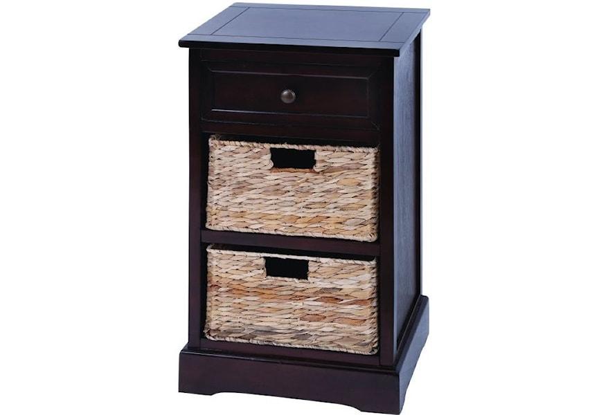 Uma Enterprises Inc Accent Furniture Wood Wicker Basket