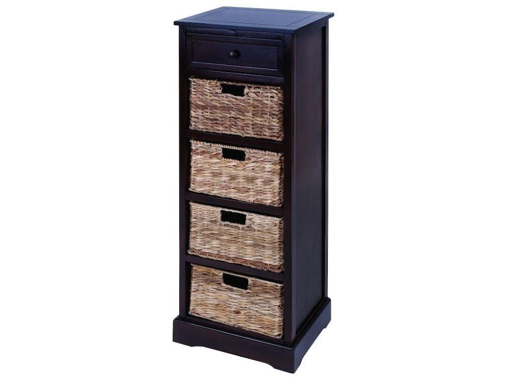 UMA Enterprises, Inc. Accent FurnitureWood Wicker Basket Chest