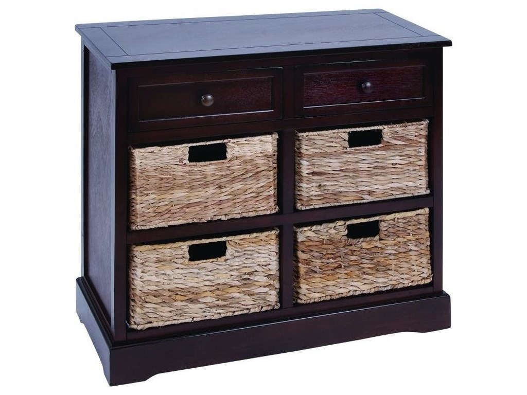 UMA Enterprises, Inc. Accent FurnitureWood/Wicker Basket Cabinet