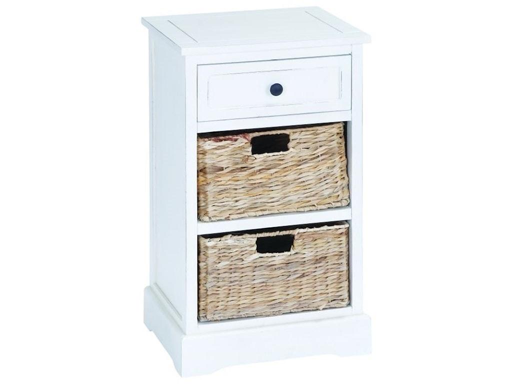 UMA Enterprises, Inc. Accent FurnitureWood Basket Side Table