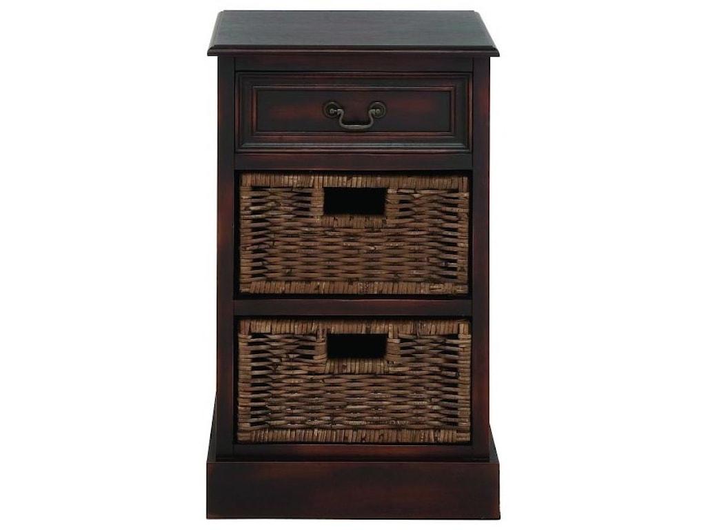 UMA Enterprises, Inc. Accent FurnitureWood 2 Basket Side Table
