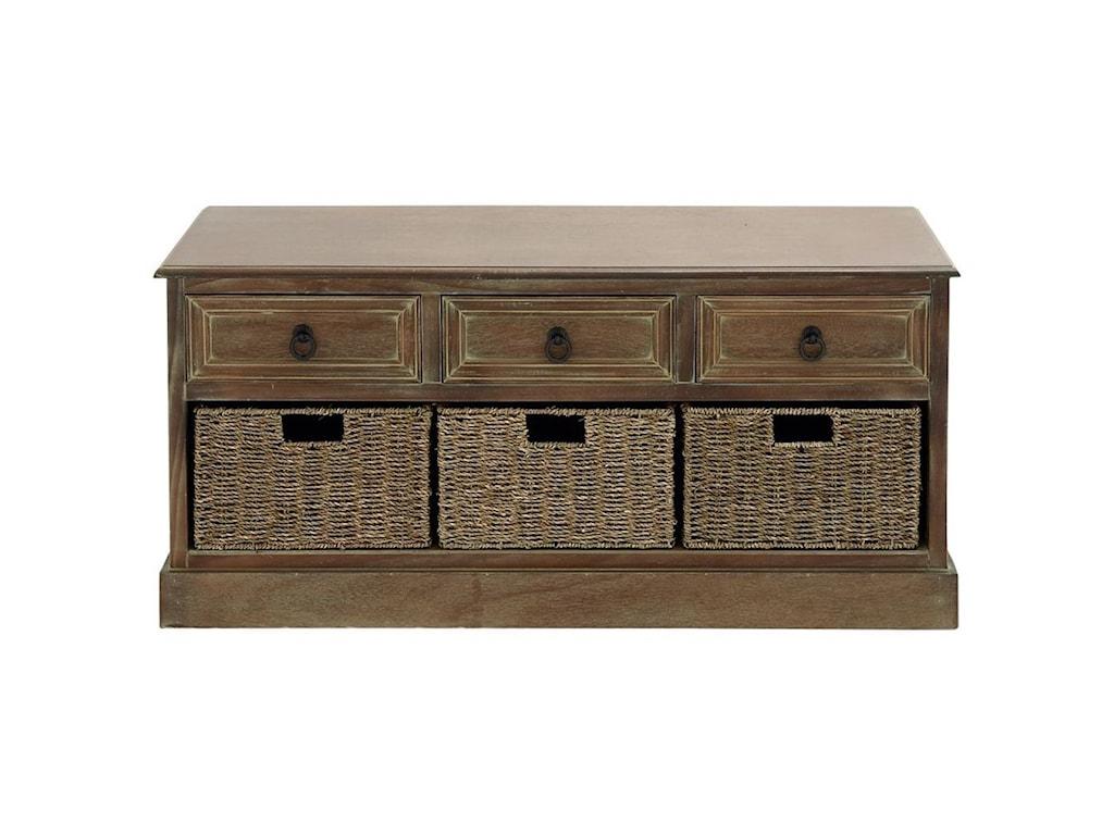 UMA Enterprises, Inc. Accent FurnitureWood 3 Basket Chest