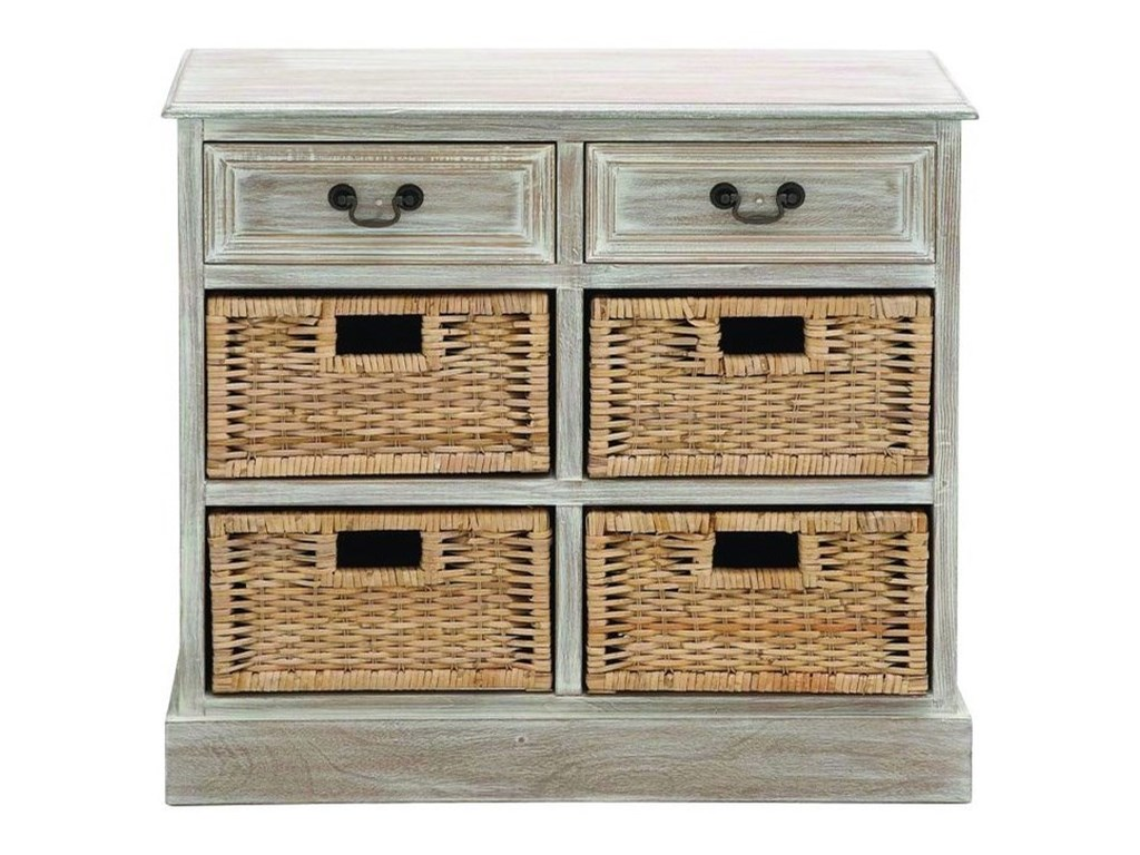 UMA Enterprises, Inc. Accent FurnitureWood 4 Basket Chest