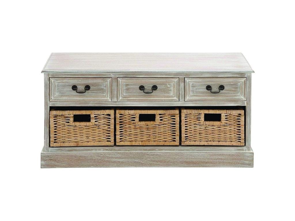 UMA Enterprises, Inc. Accent FurnitureWood 3 Basket Low Chest
