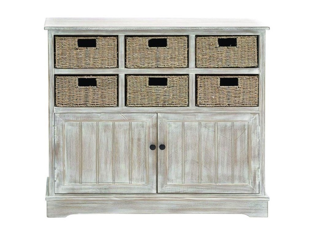 UMA Enterprises, Inc. Accent FurnitureWood 6 Basket Cabinet