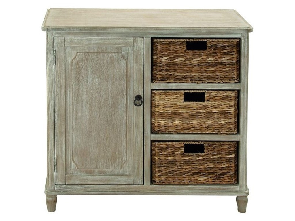 UMA Enterprises, Inc. Accent FurnitureWood Basket Cabinet