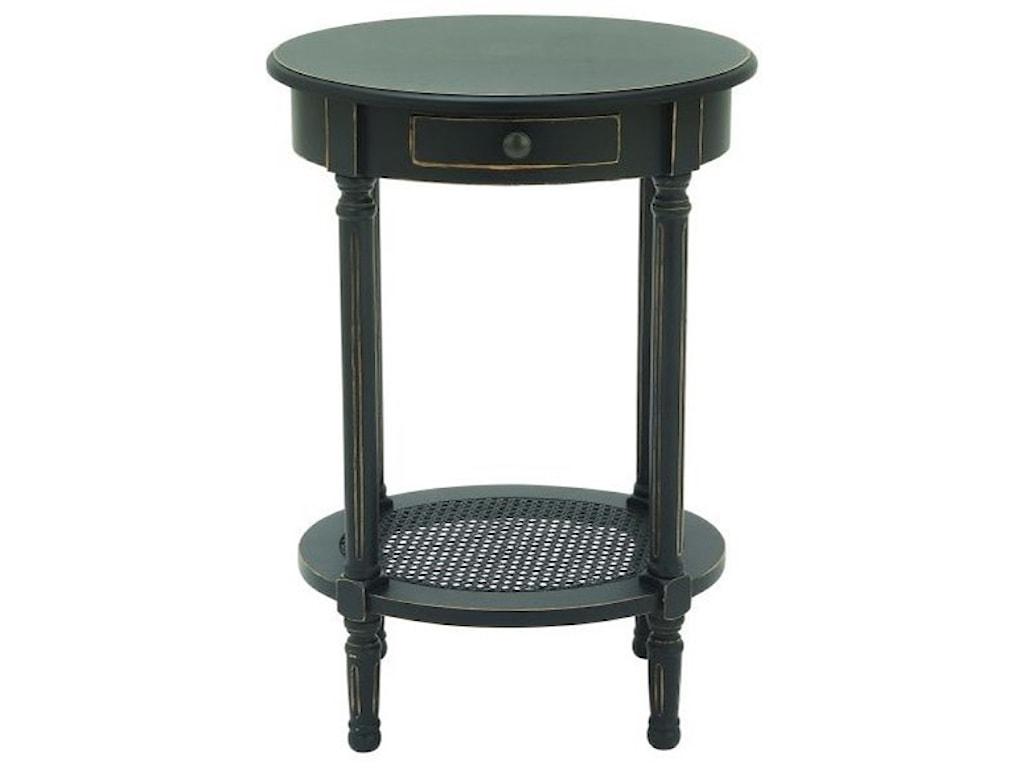 UMA Enterprises, Inc. Accent FurnitureWood Black Accent Table