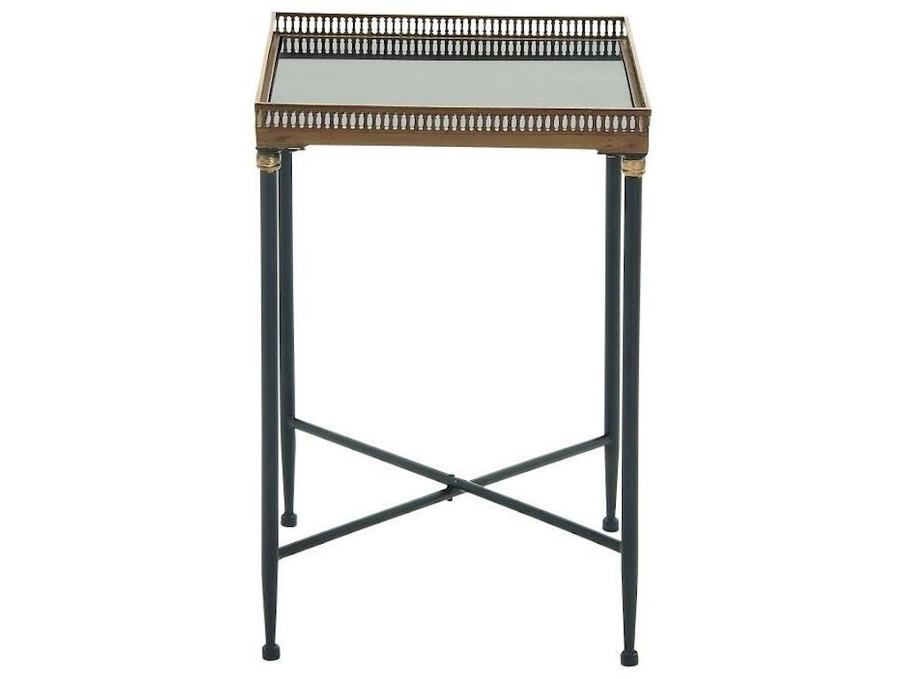 UMA Enterprises, Inc. Accent FurnitureMetal/Marble Tray Table