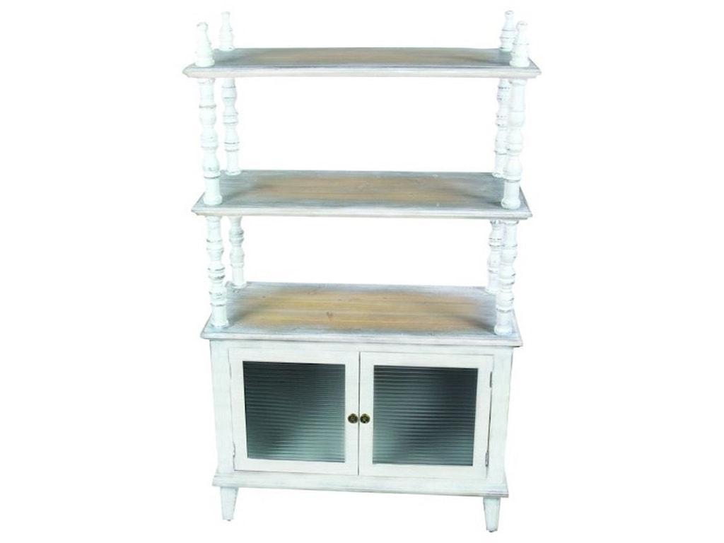UMA Enterprises, Inc. Accent FurnitureWood/Glass Cabinet Shelf